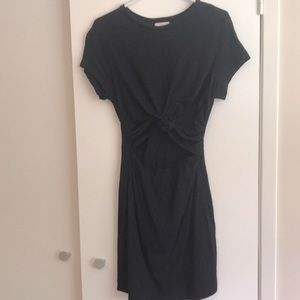 Urban outfitters black t-shirt dress with tie